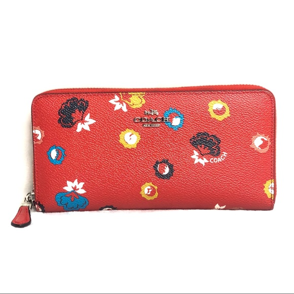 Coach Handbags - Coach Floral Red Wallet